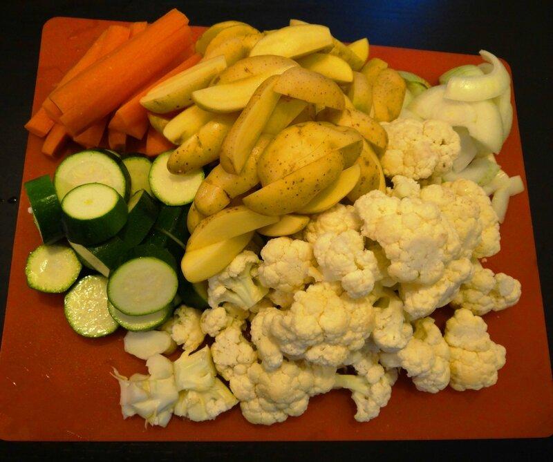 Légumes rotis - Avec mes petites mains