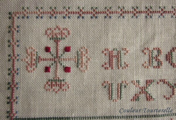 Mother's sampler 1799 Couleur Tourterelle 1-4