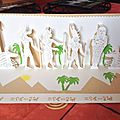 kirigami fresque egyptienne