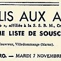 Mardi 07 novembre 1939 m. couvreur souscrit pour «le colis aux armées»
