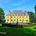Sortie à vélo sur les collines de chandieu juqu'aux belvédère et château,puis vers le domaine et château de rajat(rhône/isère)