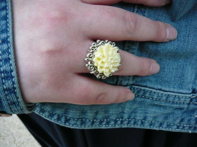 bague jaune accessoires