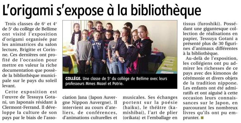 article journal montagne Courpiere 21122013