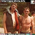 Bitche 1977 : la page du cuirassier philippe parrat 1977/78.