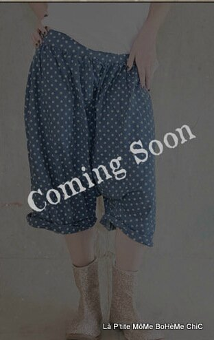 10-MP Willies Short Bloomers Poland dots with drawstring waist , buttons side hand stitched mending