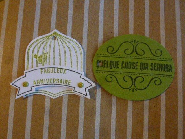 28b Etiquettes Paquet cadeau Anniv Frifri