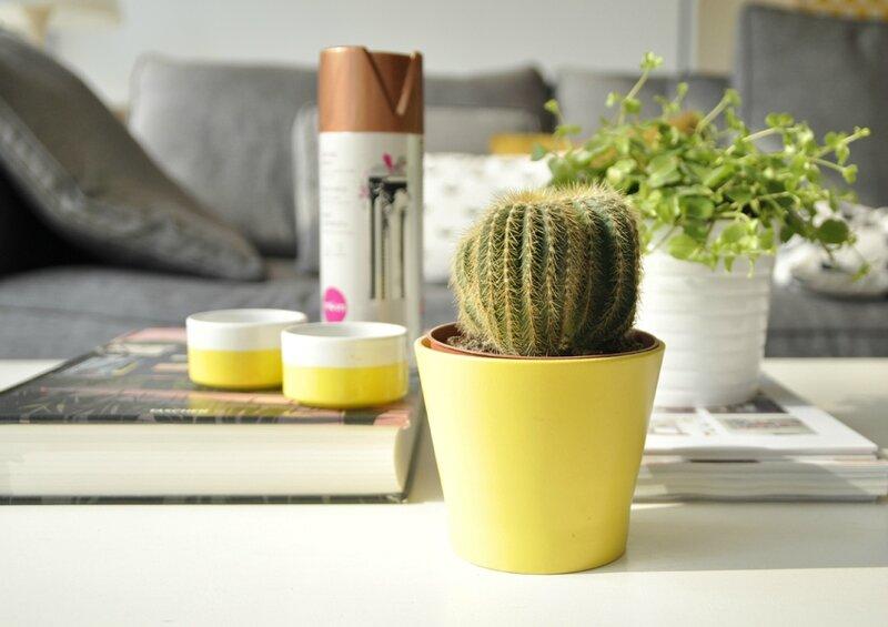 cache pot jaune IKEA