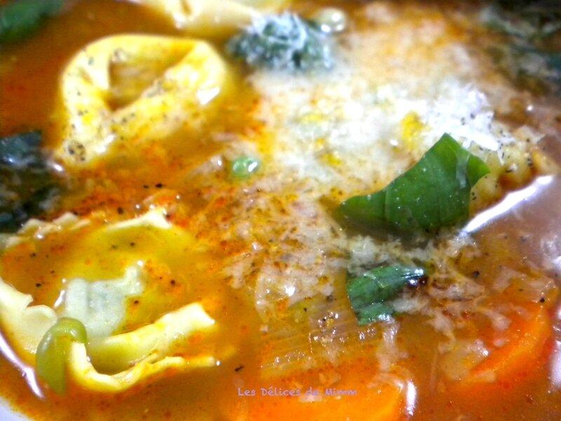 Bouillon aux tortellini à l'italienne 3