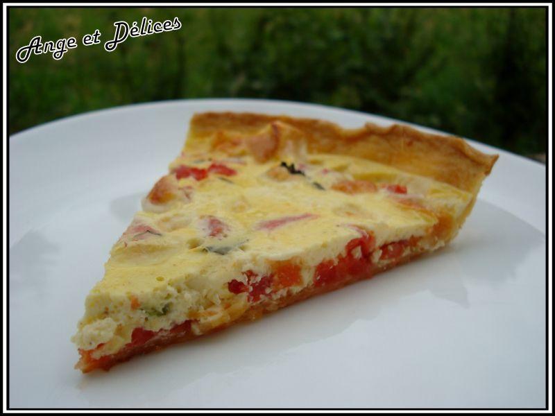 Quiche tomate mozzarella basilic 2