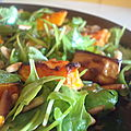 ...butternut, rocket and pine nut salad... (salade de roquette, butternut et pignon de pin, nigella kitchen)