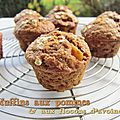 Muffins aux pommes & flocons d'avoine