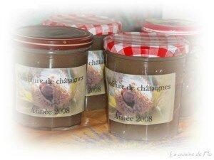 Crèmes de marron vanillée maison