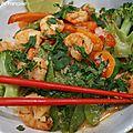 Pâtes de riz aux crevettes façon thaï