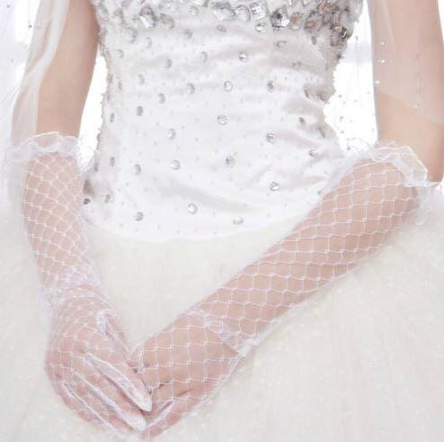 gants de mariée dentelle blanc neuf long (réf n°11)