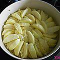 Tarte tatin de pommes aux amandes