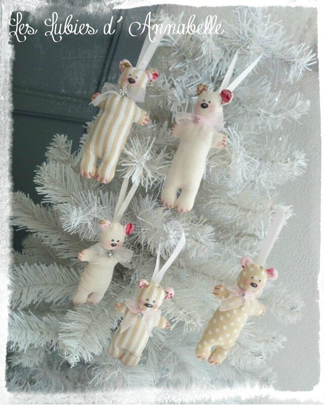 Ours Tilda Décoration de Noël à suspendre