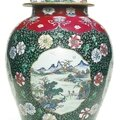 A chinese famille-rose vase and cover, qing dynasty, yongzheng period