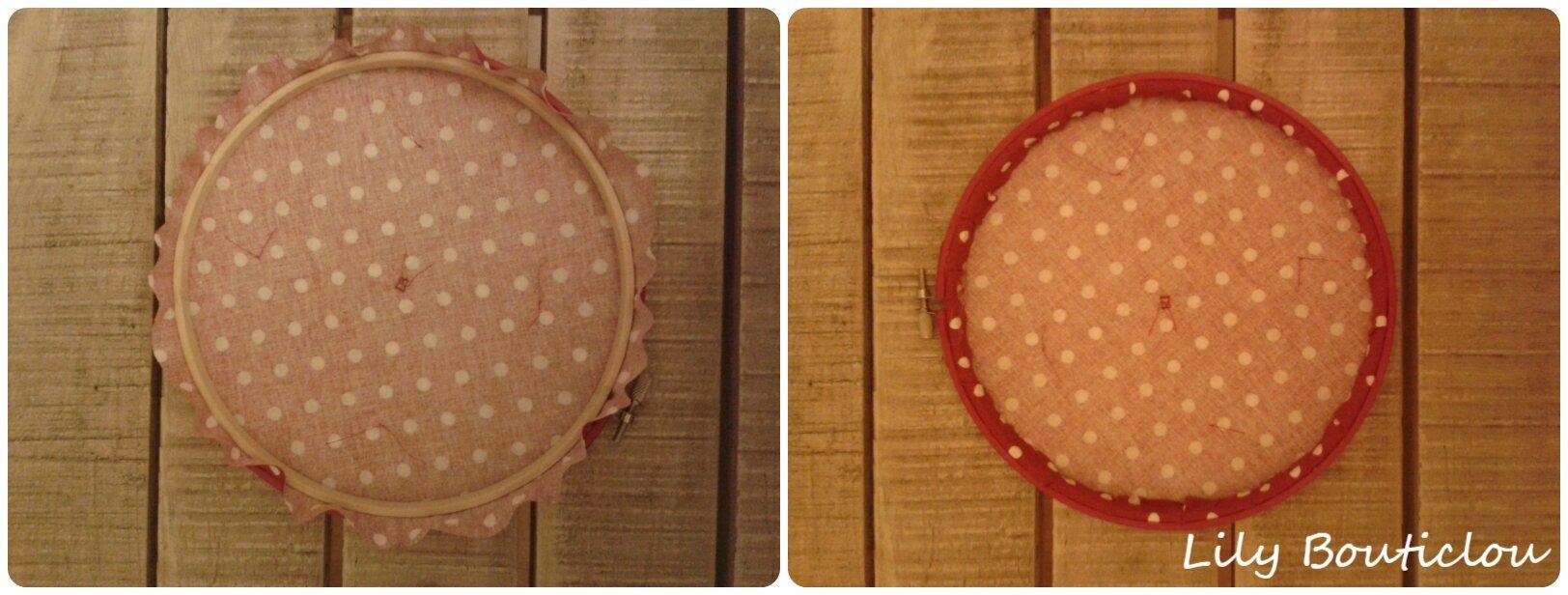 DIY cadre cercle à broder origami tissu lilybouticlou