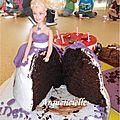 Gâteau Princesse Barbie coupé