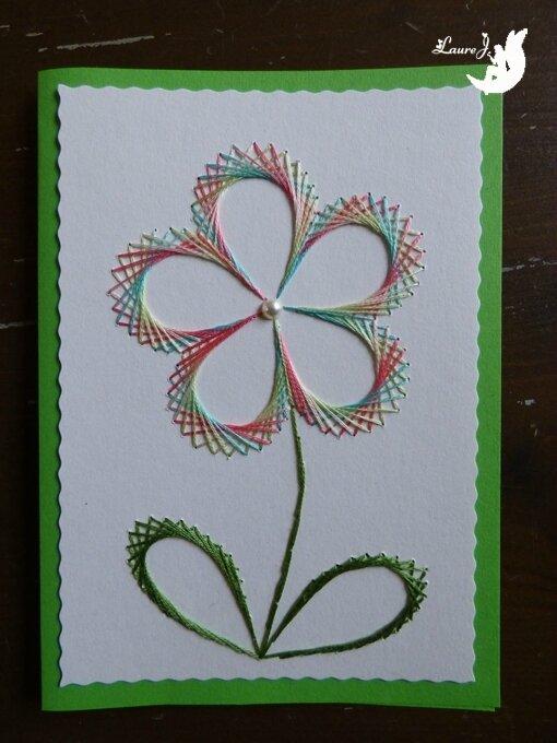 carte brodee fleur 3