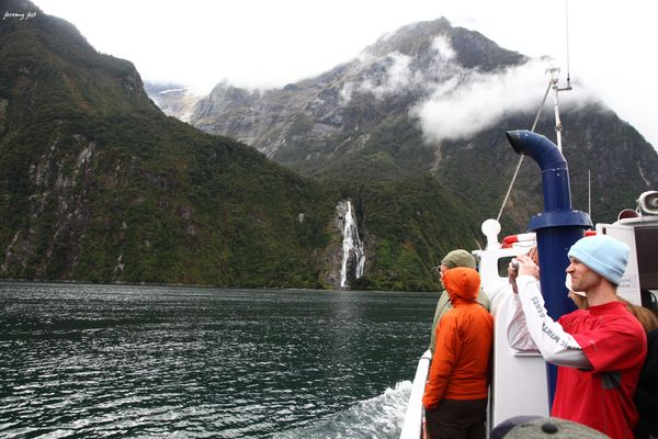boat hikers milford sound
