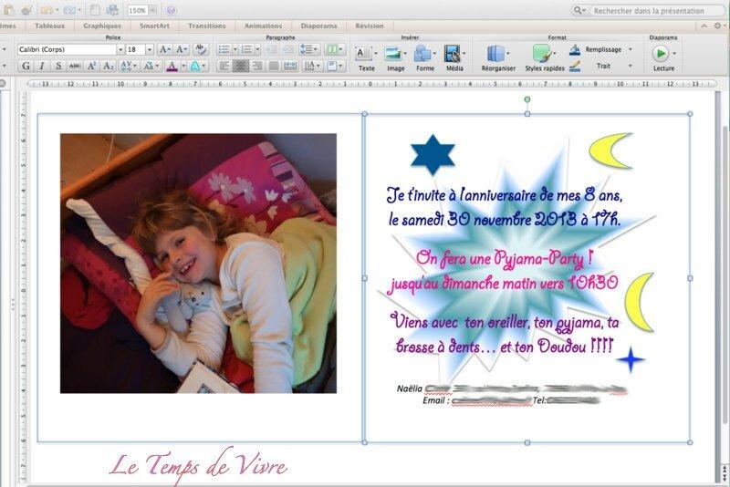 Souvent Anniversaire Pyjama Party : l'invitation ! - Le Temps de Vivre NB27