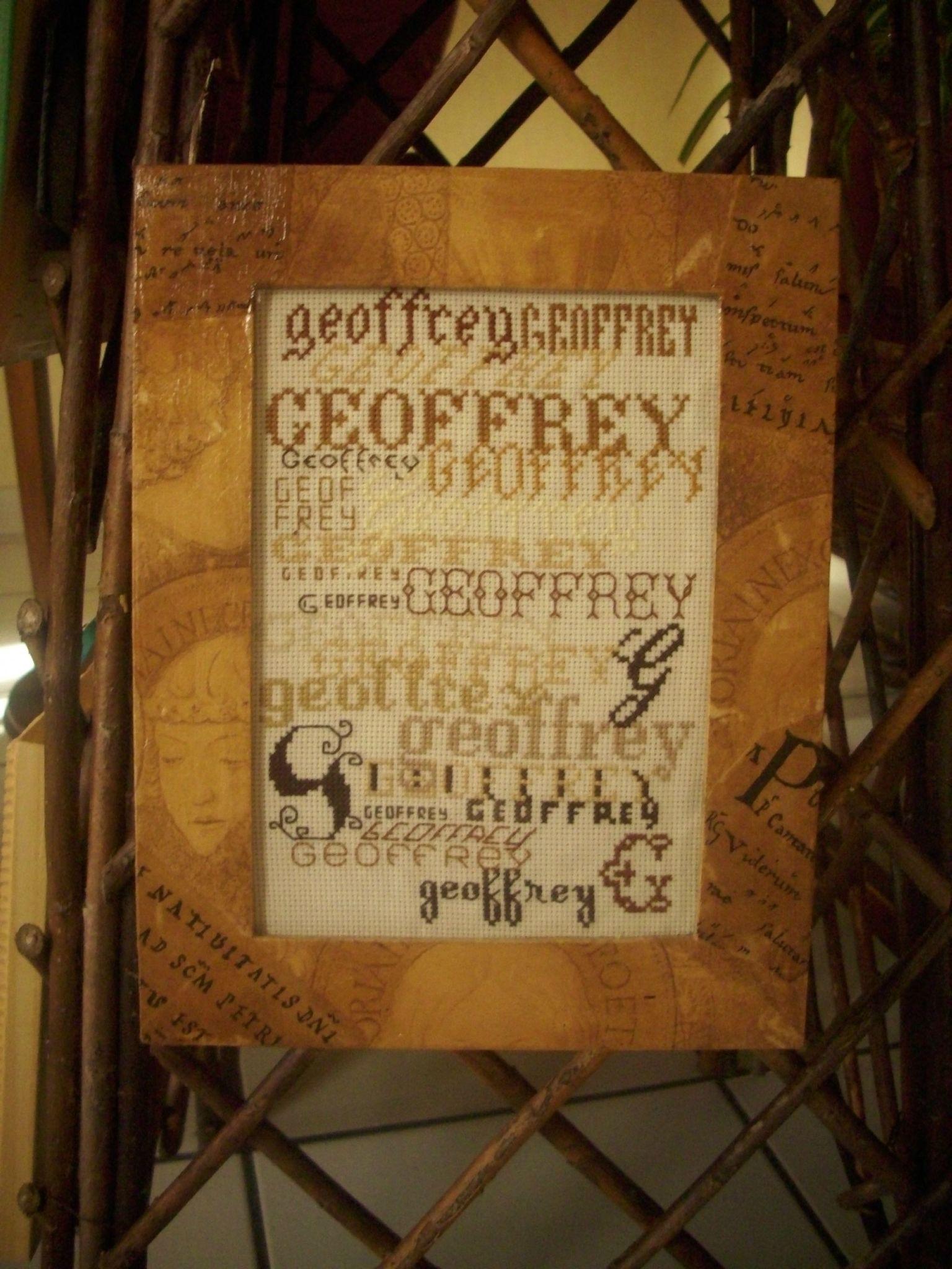Cadre pr nom geoffrey photo de mes cr ations cadres s - Geoffrey prenom ...