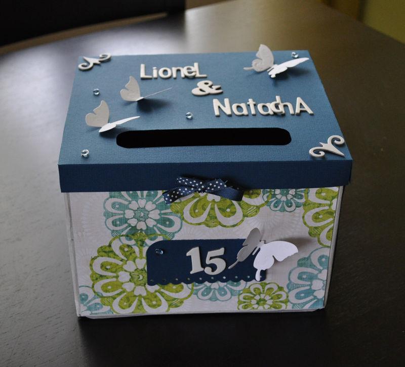 Urne anniversaire de mariage le scrap de chachou - Decorer boite carton pour anniversaire ...