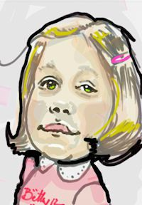 caricature digital enfant