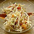 Salade au chou blanc, grenade et mandarine