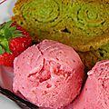 Glace aux fraises rôties