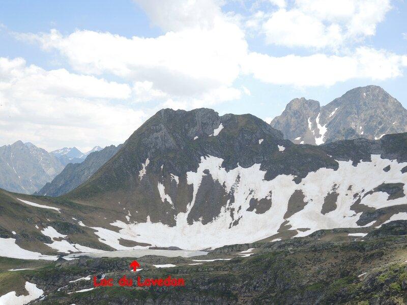 Gourette, O, Les trois Lacs, col, vue sur lac de Lavedan (64) A