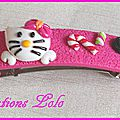 269 - Barette Hello Kitty rose