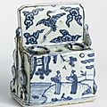 Brush and ink stick stand, ming dynasty, wanli period (1573-1620)
