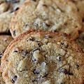 Soft and chewy chocolat chip cookies de martha stewart.
