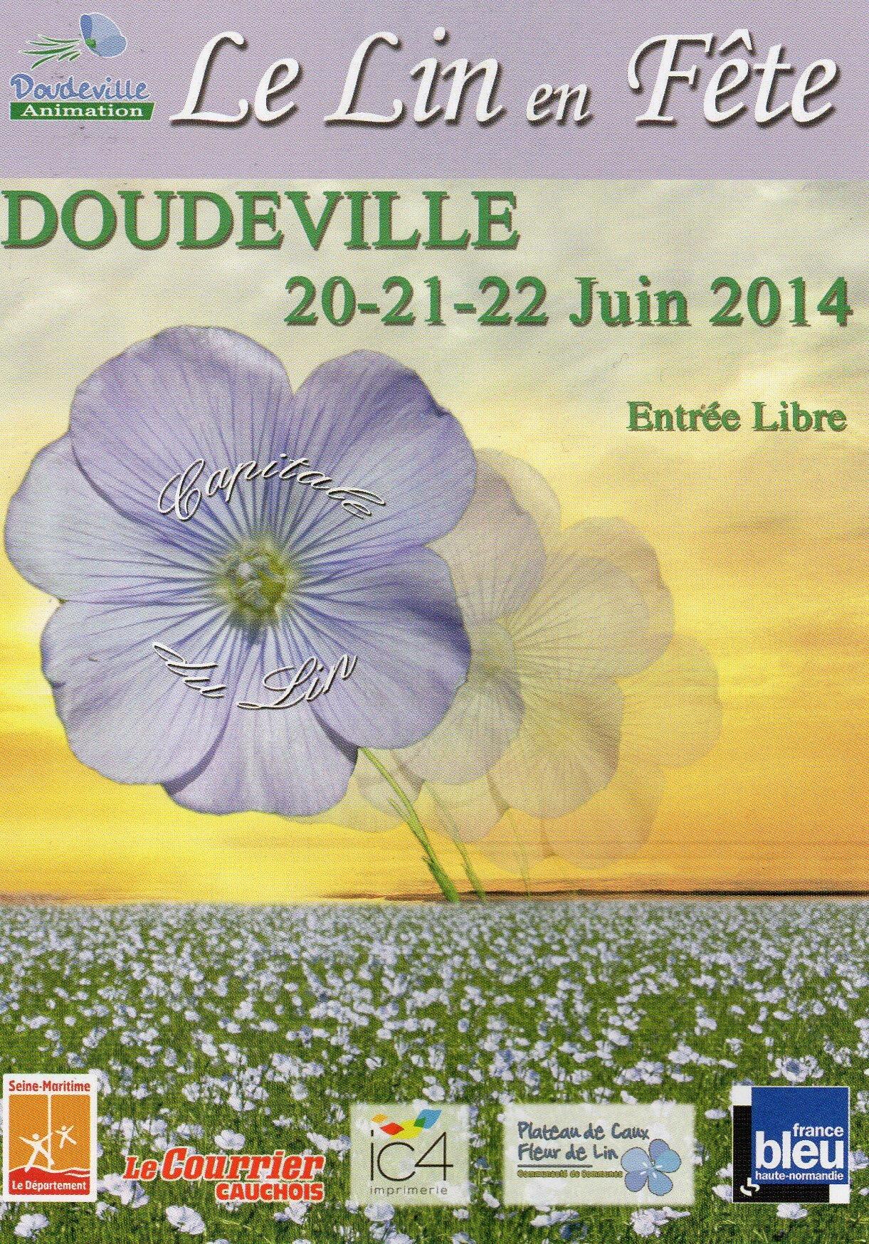Festival du lin de DOUDEVILLE (76) : les 20, 21 et 22 juin 2014...