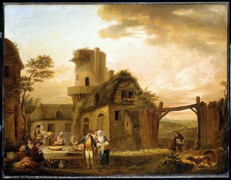 Louis Joseph Watteau de Lille- Le Soir- 1774- inv P46-1-38
