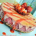 Cheesecake à la fraise.