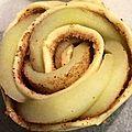 Roses feuilletées aux pommes, cannelle et sirop d'érable