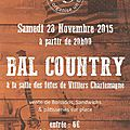 Bal country 28 novembre 2015 à villiers charlemagne