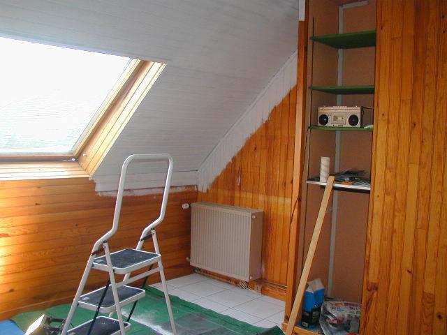 Chambre lambris peint chambre lambris et peinture u chaios conseils d co choupinet - Lambris peint ...