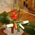 Fleur exotique-genêt-papyrus