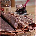 C'est la chandeleur ...instant de gourmandise avec des crêpes au chocolat