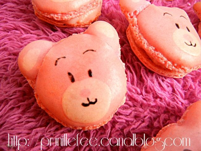 macarons oursons prunillefee
