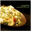 Spaghetti  la roquette et citron vert