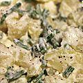 Salade de pommes de terre et salicornes