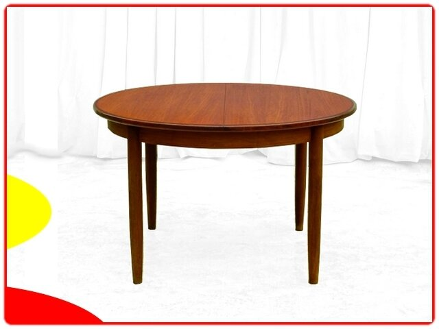 TABLE VINTAGE SCANDINAVE TECK VERS 1960