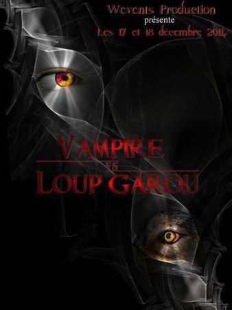 affiche vampire vs loup garou dates VF