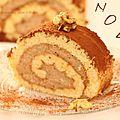Gâteau roulé aux noix.