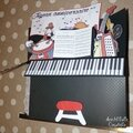 Card-in-a-box piano géant - pliée